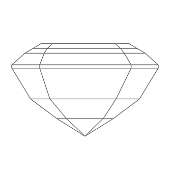 A loose asscher shape diamond vector