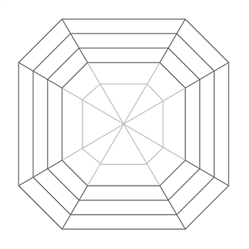Asscher Cut Wireframe