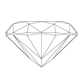 A loose cushion shape diamond vector