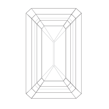 A loose emerald shape diamond vector
