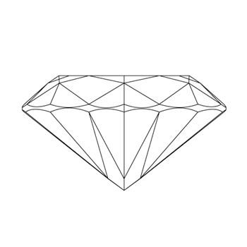 A loose heart shape diamond vector