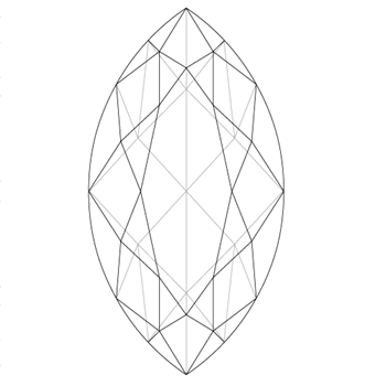 A loose marquise shape diamond vector