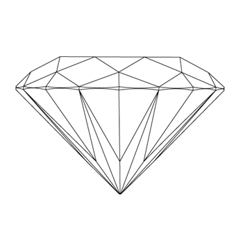 A loose oval shape diamond vector