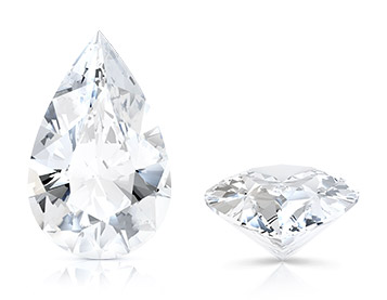Pear cut loose diamond