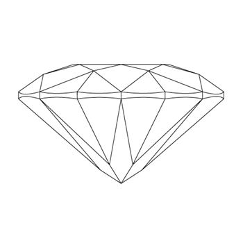 A loose pear shape diamond vector
