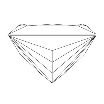 A loose princess shape diamond vector