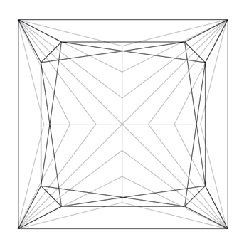 Princess Cut Wireframe