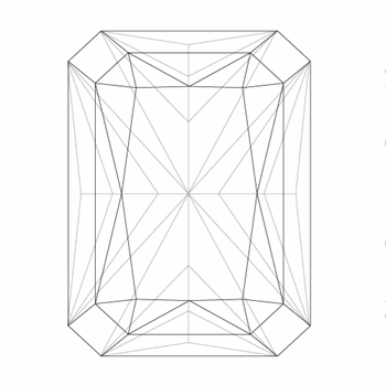 A loose radiant shape diamond vector