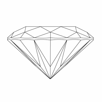 Round Brilliant loose diamond vector side