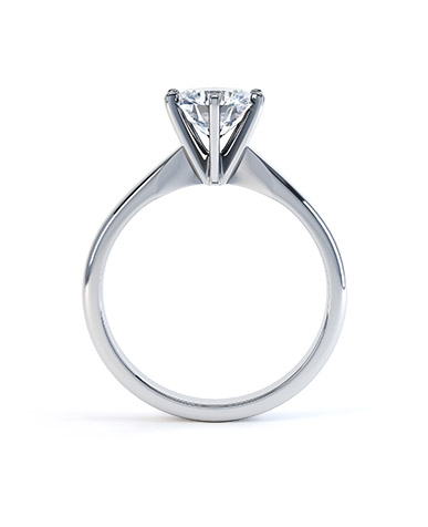 Platinum Six-Claw Tiffany Style Solitaire Setting