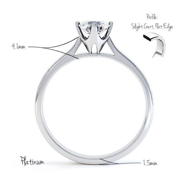 round four claw tiffany style split shank solitaire ring