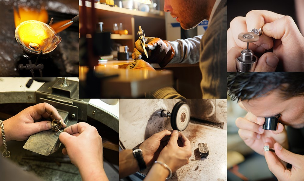 jeweller hand-making a custom engagement ring