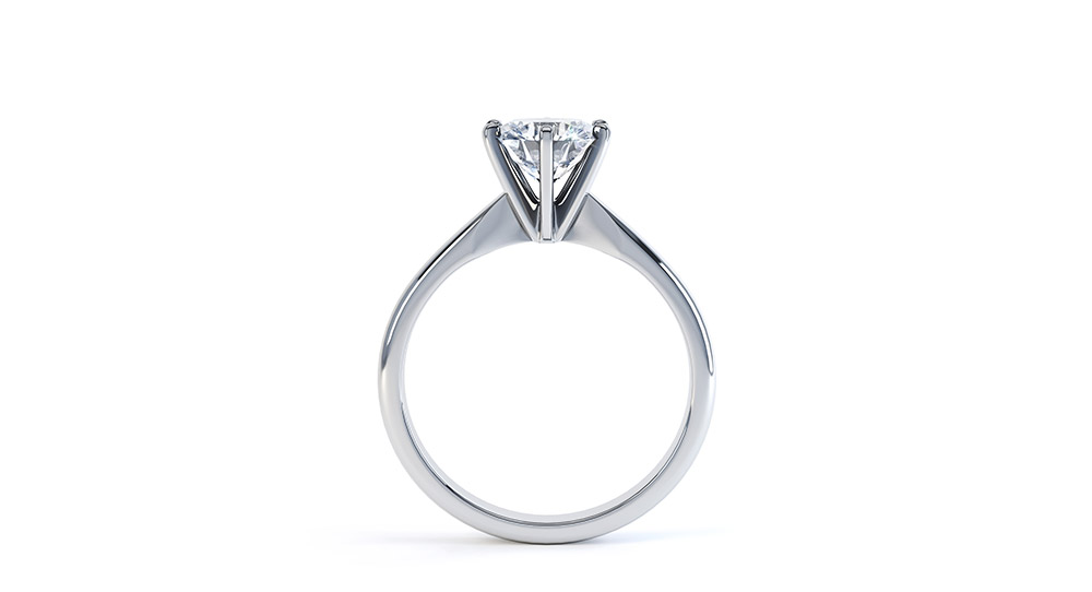 brilliant diamond round classic solitaire carat