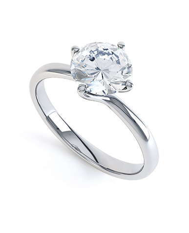 A Contemporary Solitaire Diamond Engagement Ring