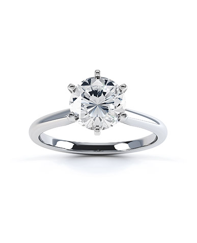 Amia diamond engagement ring in white gold