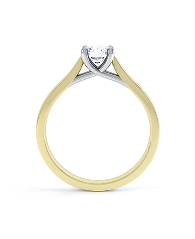 Mirabelle diamond engagement ring in yellow gold