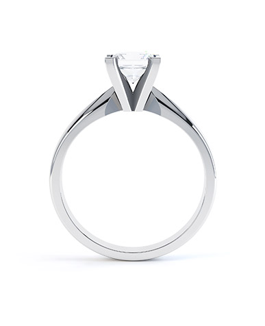 Amia Diamond Engagement Ring in Palladium 950