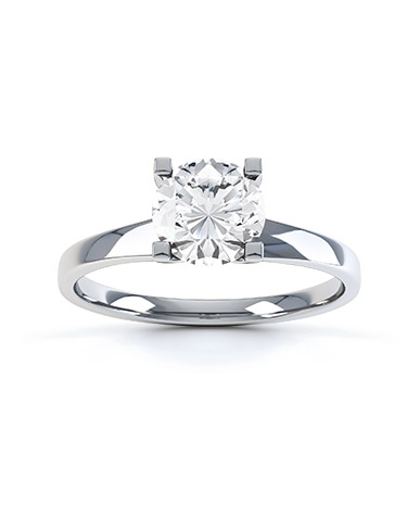 Lusso Diamond Engagement Ring in Palladium