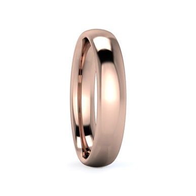 Slight Court 4mm Medium Weight Wedding Ring in Rose Gold