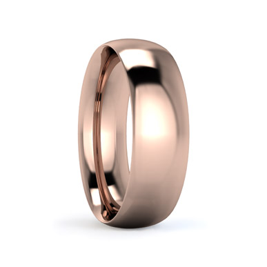 Traditional Court 6mm Medium Weight Wedding Ring in Rose Gold