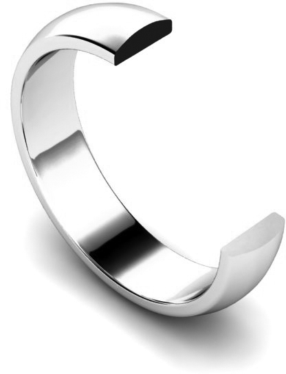 Traditional D Shape Wedding Ring Profile