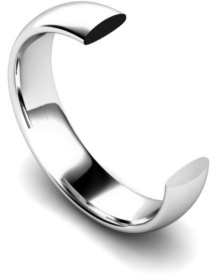 Traditional Court Flat Edge Wedding Ring Profile