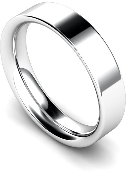 5mm Flat Court Heavy Weight Wedding Ring