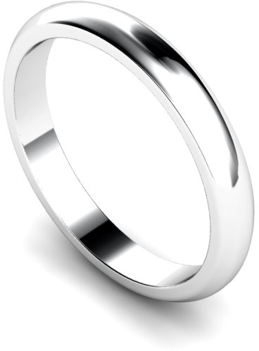 3mm Traditional D Shape Medium Weight Wedding Ring