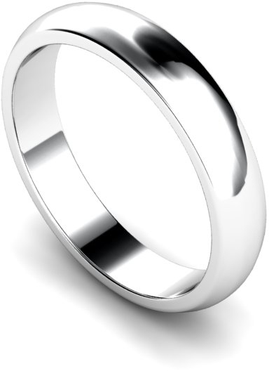 4mm Traditional D Shape Medium Weight Wedding Ring