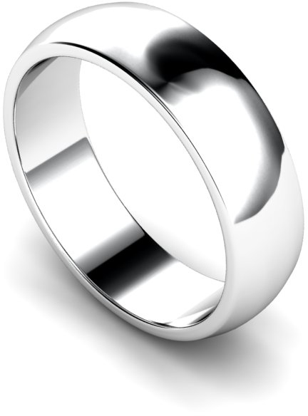 6mm Traditional D Shape Medium Weight Wedding Ring