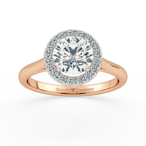 Rose Gold Halo Rings Quality Diamonds