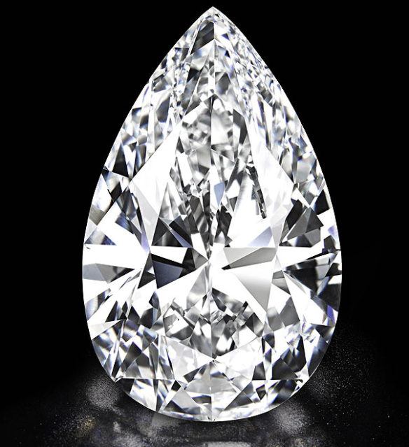 101 Carat Flawless Pear diamond