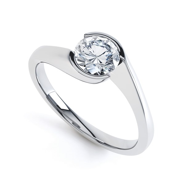 a contemporary twist solitaire setting