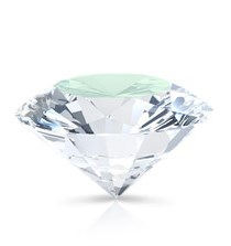 The table on a round brilliant diamond