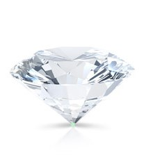 The culet of a round brilliant diamond