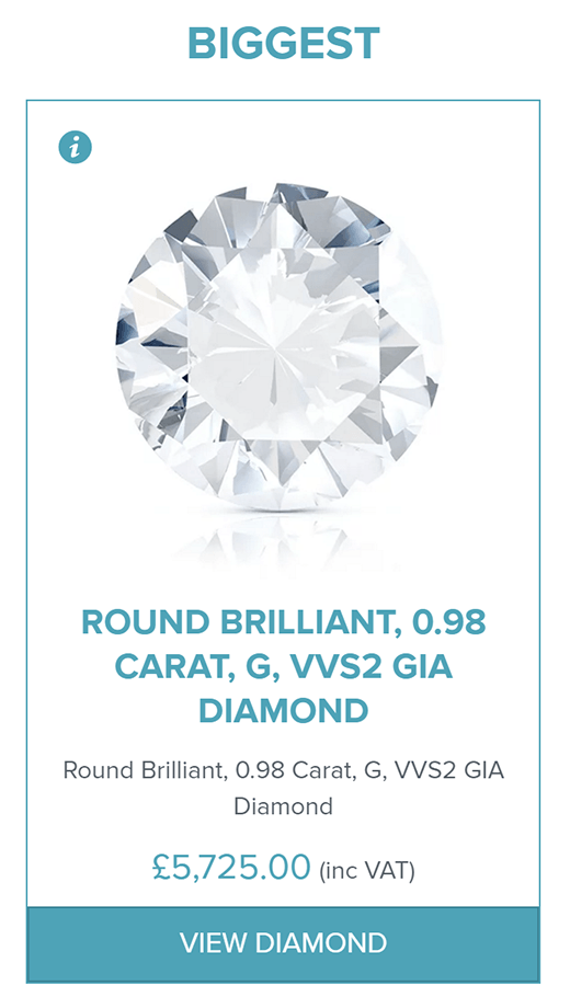 An example of the biggest diamond