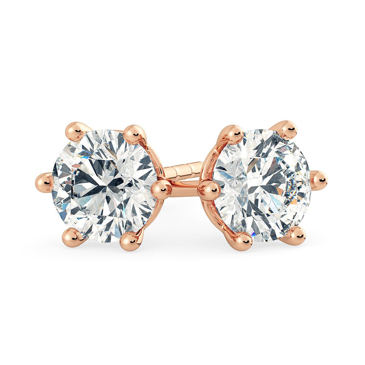 0.5ct Claw Set Diamond Stud Earrings