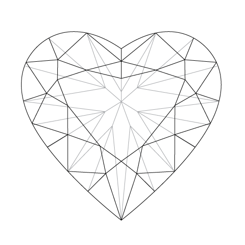 Heart cut Diamonds, perfect for a Valentine proposal.