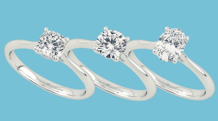 Popular Solitaire Diamond Engagement Rings