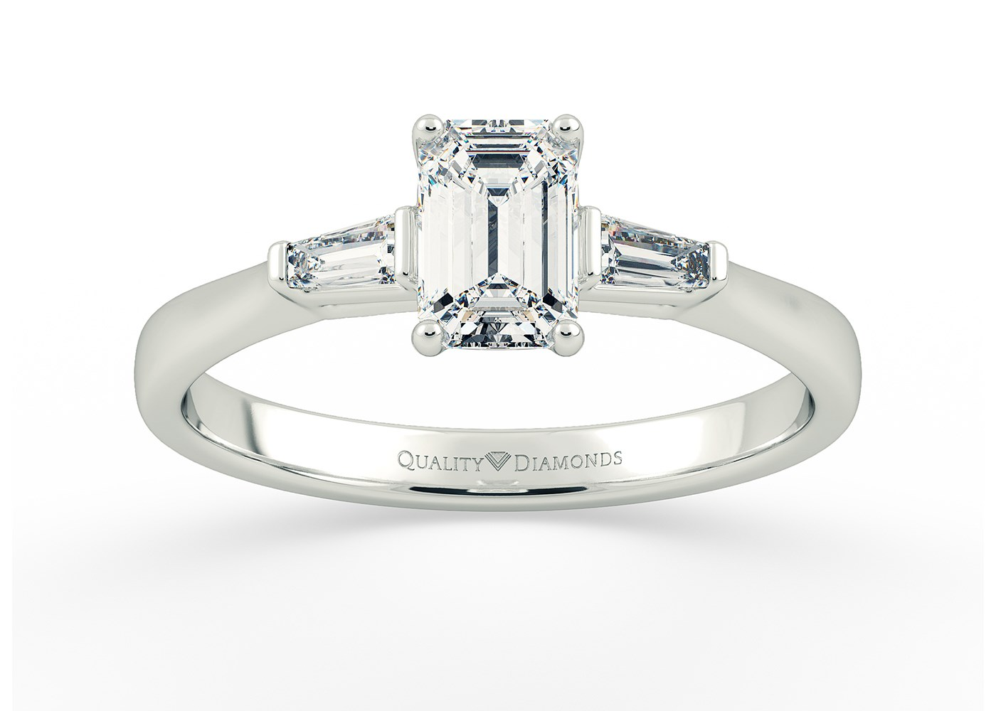 Art Deco Inspired Solitaire Rings