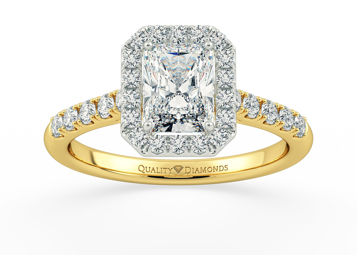 Halo Solitaire Diamond Rings