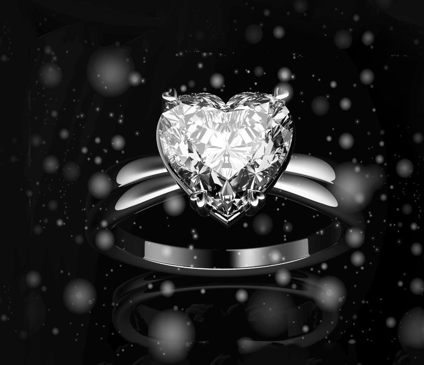 Heart Shaped Engagement Rings for Valentines day...